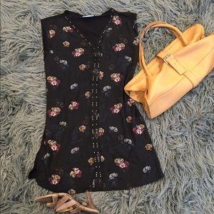 Vera vang lavender floral dress